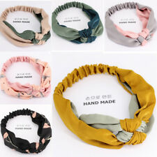 New Casual Wide Side Hit Color Stitching Hair Bands Headbands Hair Accessories
