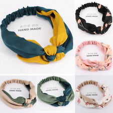 1PC New Cloth Korean Version Stitching Two-color Hair Bands Hair Accessories
