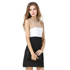 New Fashion Three Color Sleeveless Plus Size Office Dress For Women
