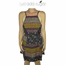 Womens Just Add Sugar Annabelle Dress Sleeveless Sexy Open Back Abstract Party