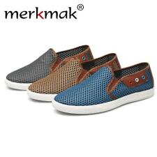 TheraHemp's Merkmak Mens Summer Slip-On Cotton/Hemp/Mesh Sneaker