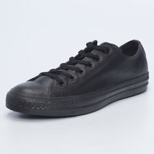 Converse Mens Chuck Taylor Leather Lo-Cut Shoes in Black