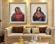 "New Cross Stitch""Jesus/Mary""Finished Cross Stitch Embroidery Home Decor"