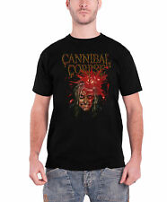 Cannibal Corpse T Shirt Impact Spatter band logo new Official Mens Black