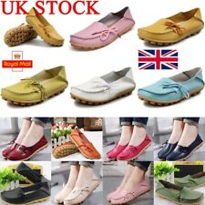UK Womens Loafers Boat Oxfords Slip On Flat Moccasins Casual Shoes Size Work