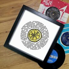 Stoneroses Fan Gift Vinyl Record Print or Fully Framed 7 or 12 inch ANY SONG