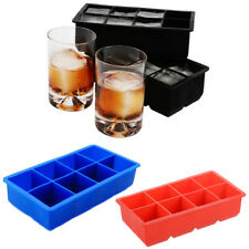 Silicone Ice Cube Tray Mold DIY Mould Maker Make 8 Ice Cubes Whiskey Cocktails