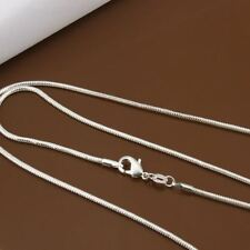 Women New Fashion Silver Plated Chain Fashion Chains 5pcs/lot Size 2mm