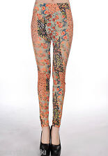 ROMANTIC FLORAL WATER COLOR PRINT LEGGINGS Choose From Sizes 8 & 10 & 12