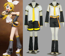 Anime Vocaloid Kagamine Len/Rin Cosplay Costume Uniform Set Male Female Children