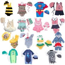 Baby Kids Boy Girl Summer Beach Swimwear Swimsuit Swimming Costume+Hat Set 6M-6T