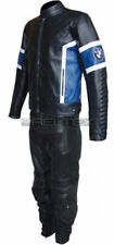 BMW Men Motorcycle Leather Suit Motorbike Racing Leather Jacket Trouser Armors