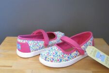 Toms Toddler Girl Fuchsia Multi Floral Mary Jane Shoes US 10 Tiny NWOB