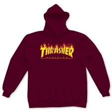 NWT Authentic Thrasher Flame Logo Maroon Hoodie