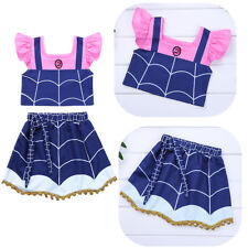 Toddler Kids Baby Girls Fancy Outfit Clothes Tops+Dress Skirt Costume 2PCS Set