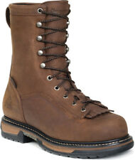Rocky Mens Brown Leather Ironclad Waterproof Lacer Work Boots