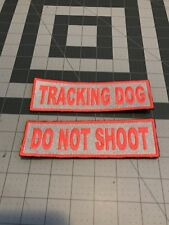 Tracking Dog Tactical Velcro Patches