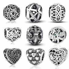 Sterling Silver Matel Vintage Openwork Beads Fit Charm For Jewelry Making