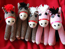 💜 Rockford Red Heel Sock Monkey Stuffed Animal Pony Horse Customizable