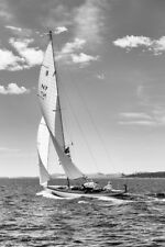 Classic Yacht Varg Running Down Wind by Andrew Wilson Seascape Print