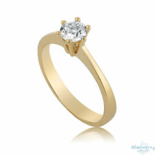 Engagement Ring Diamond 0.5 CT G VS2 Solitaire 14K Yellow Gold Size 7 Enhanced