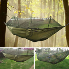 Travel Jungle Camping Outdoor Hammock Hanging Nylon Bed + Mosquito Net
