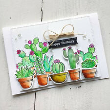 Cactus Clear Stamps + Metal Cutting Dies Stencils Scrapbooking Embossing DIY New