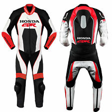 Mens CBR Motorcycle Sports Leather Suit Motorbike Racing Leather Biker Suit CE