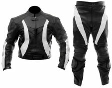 Vintage Motorcycle Sport Leather Suit Motorbike Racing Leather Biker Jacket Pant