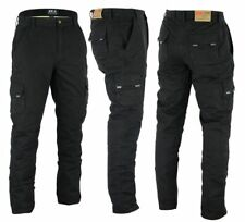 MENS MOTORBIKE MOTORCYCLE CARGO PADDED ARMOUR TROUSER JEAN PANT