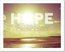 Hope Quote Concept Sunset Background Art Print Home Decor Wall Art - 3
