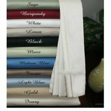 QUALITY 1000TC EGYPTIAN COTTON COMPLETE BEDDING ITEMS UK SINGLE ALL SOLID COLORS