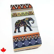 iPhone 5 SE 6 6S 7 8 Plus Elephant Leather Wallet Cover Case Stand Card Slots