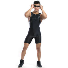 (J19) Mens Compression Tight Base Layer Short Black Spandex Gym Fitness Athletic