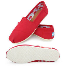 Monochrome Lazy Shoes Loafers Canvas Slip-On Flats Shoes   Size 6-10 For Women