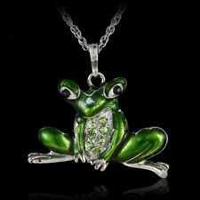 Fashion Jumpping Frog Silver Long Chain Pendant Necklace Chain Women Jewelry