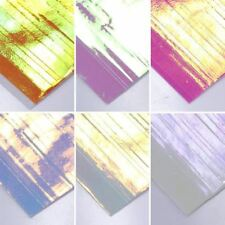 6 Sheets 3D Ultra Thin Laser Line Candy Color Nail Foil Decal Nail Sticker