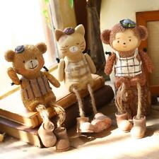 Novelty Gifts Animals Cute Resin Figurines Home Decoration With Hemp Rope Legs
