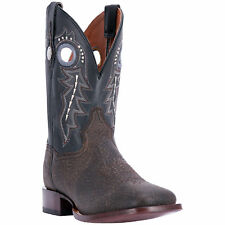 Dan Post Mens Distressed Black Cowboy Boots Leather Cowboy Boots