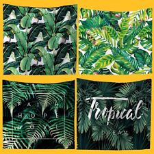 Tropical Palm Leaf Tapestry Banana Leaf Wall Hanging Beach Mat Hippie Room Decor