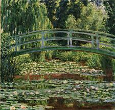 Japanese Footbridge Water Lily Pool Painting by Claude Monet Art Reproduction