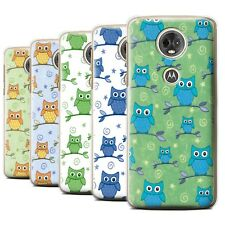 STUFF4 Back Case/Cover/Skin for Motorola Moto E5 Plus 2018/Cute Owl Pattern