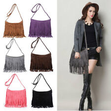 New Women's Fringe Messenger Shoulder Tassel Bag Handbag Ladies Crossbody Bag