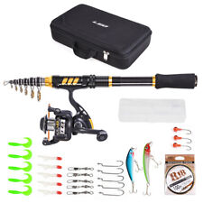 Fishing Rod Reel Combo Carbon Fiber Rod with Spinning Reel Fishing Line Lures