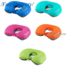 Compact Inflatable Pillow Self-Inflating U Shape Travelling Backpacking Camping