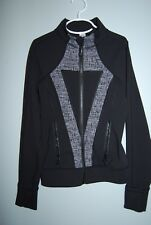 Ivivva by Lululemon Girls Athletic Practice Jacket - Size 8 - Black with Gray