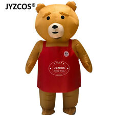 Teddy Bear Mascot Costume Adult Inflatable Blow Up Suit Cosplay Outfit Birthday