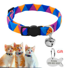 Quick Release Pet Collars Tag Set Adjustable Dog Personalized Engraved Nameplate