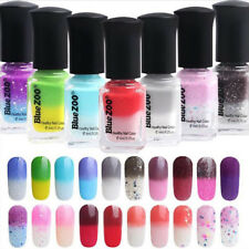 6ml Temperature Color Changing Thermal Nail Polish Peel Off Manicure Tool Beamy
