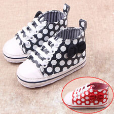 Cute Dot Kids Child Sports Girl Boy's Lace up Baby Infant Toddler Shoes Hot